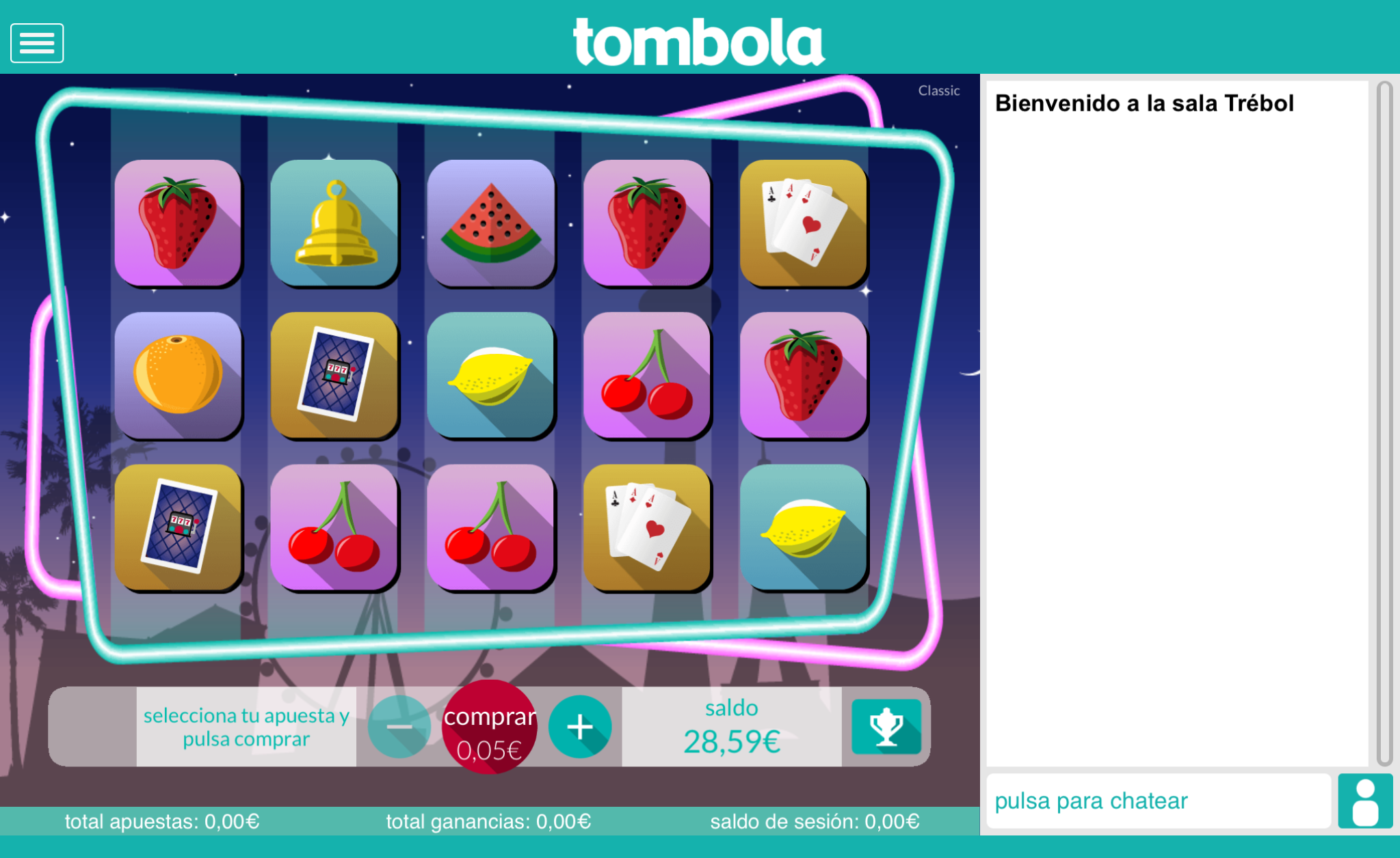 spin classic slots tombola
