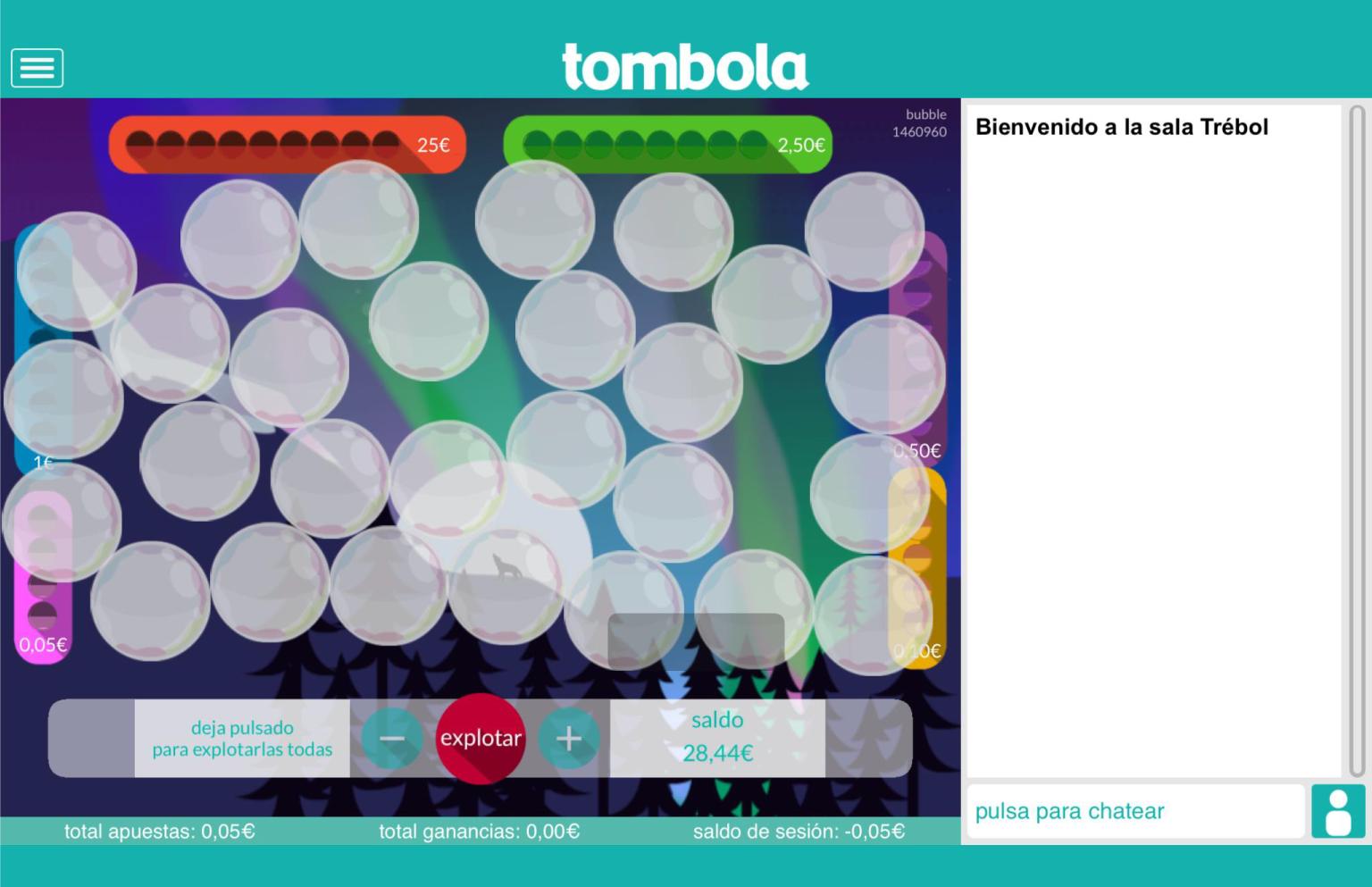 bubble slots tombola